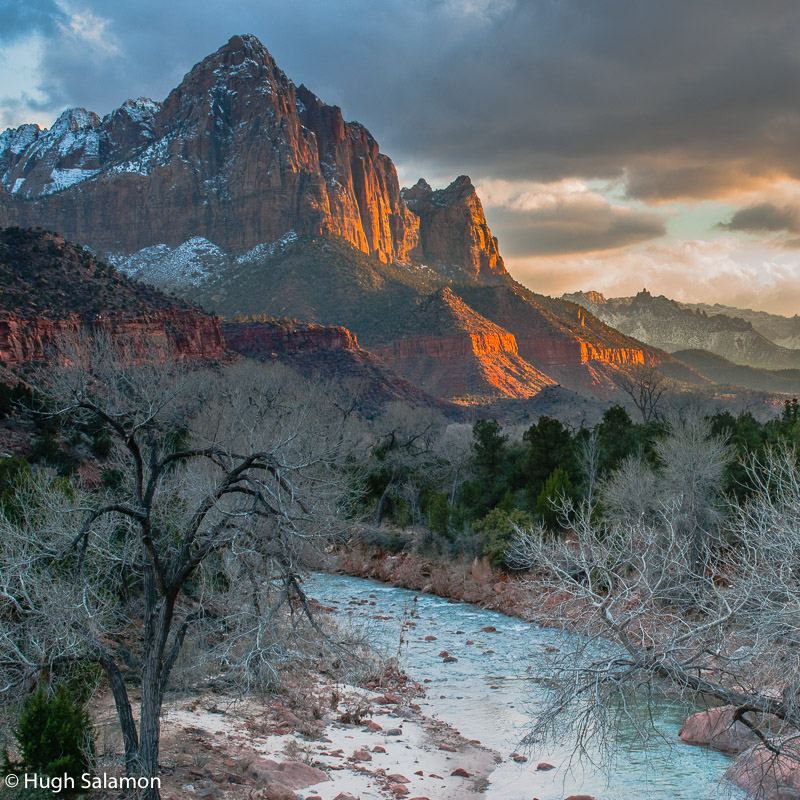 The Watchman near Mount Zion National Park